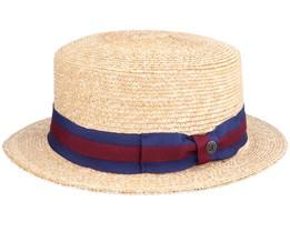 Boater Hat Natural Straw Hat - Jaxon & James