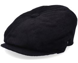 Corduroy Newsboy Cap Black Flat Cap - Jaxon & James