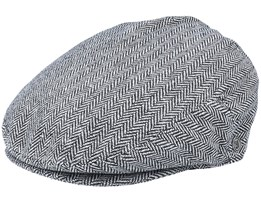 Herringbone Grey Flat Cap - Jaxon & James