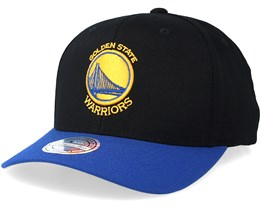 Golden State Warriors 2 Tone Black/Royal 110 Adjustable - Mitchell & Ness