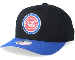 release date 67149 6dbae Detroit Pistons 2 Tone Black Blue 110 Adjustable - Mitchell   Ness
