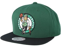 Boston Celtics 2 Tone Green/Black Snapback - Mitchell & Ness
