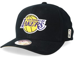 LA Lakers Intl323 HWC Black/Yellow/Purple 110 Adjustable - Mitchell & Ness