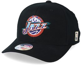 Utah Jazz Intl323 HWC Black Adjustable - Mitchell & Ness