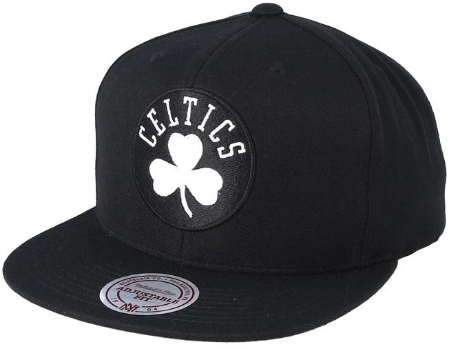 size 40 c7b90 aaf16 Boston Celtics Wool Solid Black White Snapback - Mitchell   Ness caps -  Hatstoreworld.com
