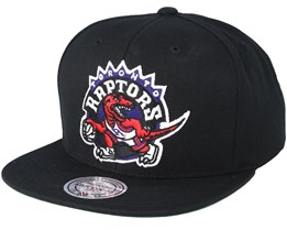 b9478fc76f6 Toronto Raptor Wool Solid Black Red Snapback - Mitchell   Ness