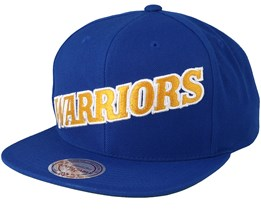 Golden State Warrior Wool Solid Blue/Yellow Snapback - Mitchell & Ness