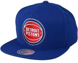 Detroit Pistons Wool Solid Blue/Red Snapback - Mitchell & Ness