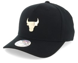 Chicago Bulls Nar329 Gold Logo 110 Black Adjustable - Mitchell & Ness