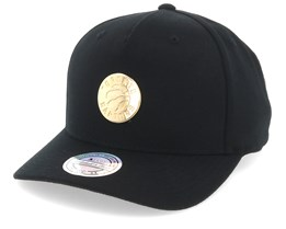 Toronto Raptors Nar329 Gold Logo 110 Black Adjustable - Mitchell & Ness