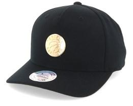 c6d5cdcdf38 Toronto Raptors Nar329 Gold Logo 110 Black Adjustable - Mitchell   Ness