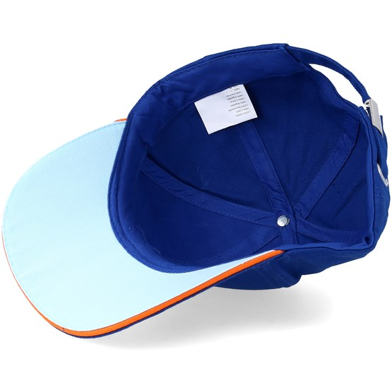 Gulf Racing Blue Adjustable Formula One Caps