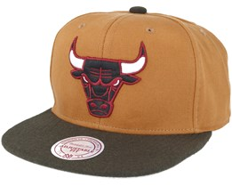 Chicago Bulls Signature Tan Snapback - Mitchell & Ness