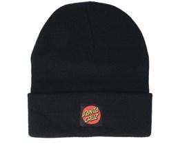 Classic Label Dot Black Beanie - Santa Cruz