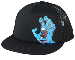 Kids Screaming Hand Black Trucker - Santa Cruz