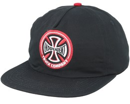 Hollow Cross Black/Red Snapback - Independent