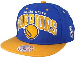 Golden State Warriors Team Arch Blue/Yellow Snapback - Mitchell & Ness