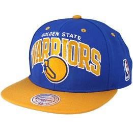 ff08d76f442e84 Mitchell & Ness Golden State Warriors Team Arch Blue/Yellow Snapback -  Mitchell & Ness AED 129.00
