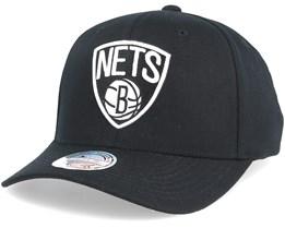 Brooklyn Nets Black & White 110 Adjustable - Mitchell & Ness