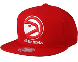 Atlanta Hawks Solid Team Red Snapback - Mitchell & Ness
