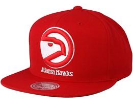 Atlanta Hawks Solid Team Red Snapback - Mitchell & Ness