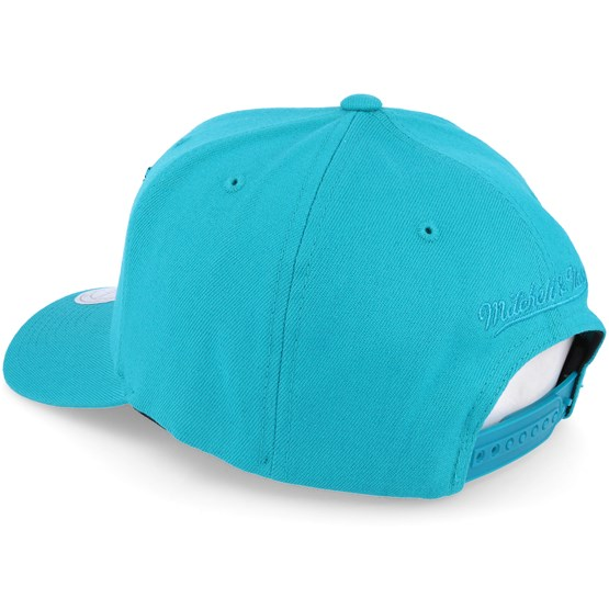 6078f64664796 Charlotte hornets Tonal Logo High Crown 110 Teal Adjustable - Mitchell   Ness  caps