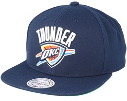 Oklahoma City Thunder Wool Solid/Solid 2 Navy Snapback - Mitchell & Ness