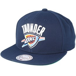 the latest 075a3 8b57b Mitchell   Ness Oklahoma City Thunder Wool Solid Solid 2 Navy Snapback -  Mitchell   Ness £26.99 £29.99