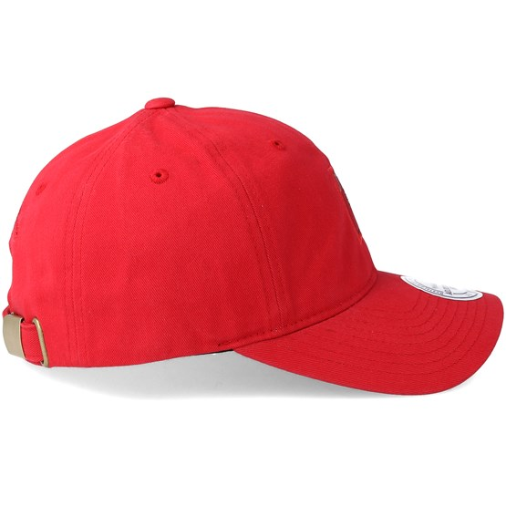cheap for discount 62a2c f1318 Chicago Bulls Small Jersey Dad Hat Red Adjustable - Mitchell   Ness caps -  Hatstoreworld.com