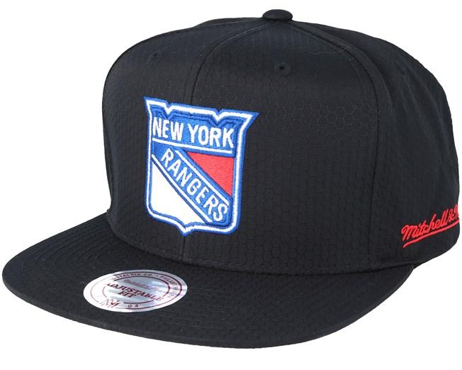 caa369cfcf57f New York Rangers Riptop Honeycomb Black Snapback - Mitchell   Ness cap -  Hatstore.co.in