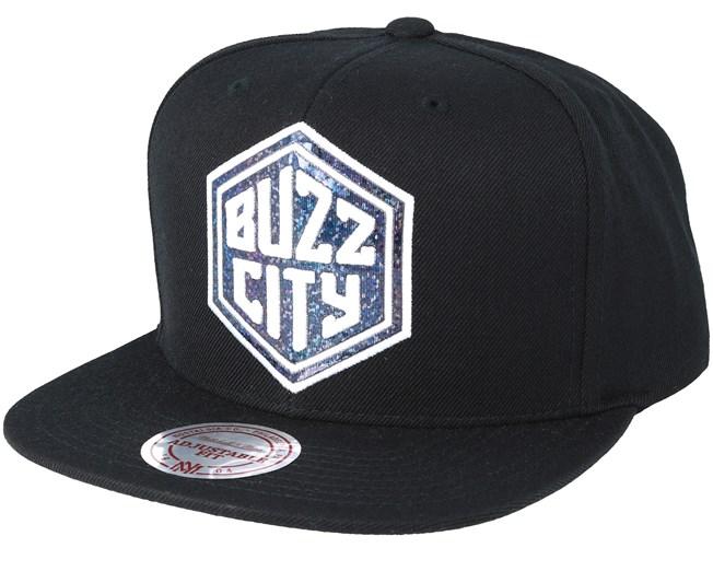 04d6e195071 Buzz City Dark Hologram Snapback - Mitchell   Ness caps - Hatstoreworld.com