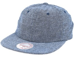 Current Cotton Melange Clip Navy Strapback - Mitchell & Ness