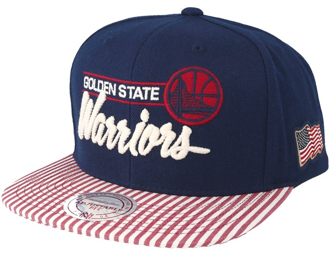 low priced e656c 7579f Golden State Warriors USA Navy Snapback - Mitchell   Ness cap -  Hatstore.co.in