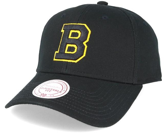 Boston Bruins Team Logo Low Pro Strapback Black Adjustable - Mitchell   Ness  caps - Hatstoreworld.com 49509fec86c