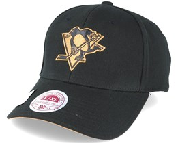Pittsburgh Penguins TKO Twist Black Flexfit - Mitchell & Ness