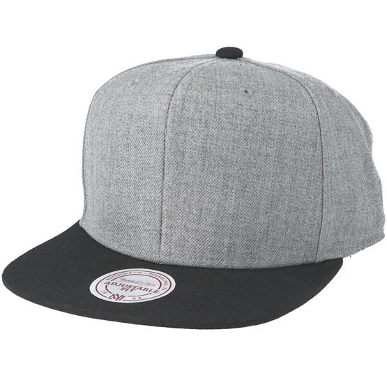 af1e746eb93e4 Blank Grey Black Snapback - Mitchell   Ness caps - Hatstoreworld.com