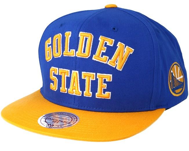 Golden State Warriors Wordmark Blue Snapback - Mitchell   Ness caps -  Hatstoreworld.com db25152babe