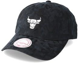 Chicago Bulls Tonal 110 Camo Black Adjustable - Mitchell & Ness