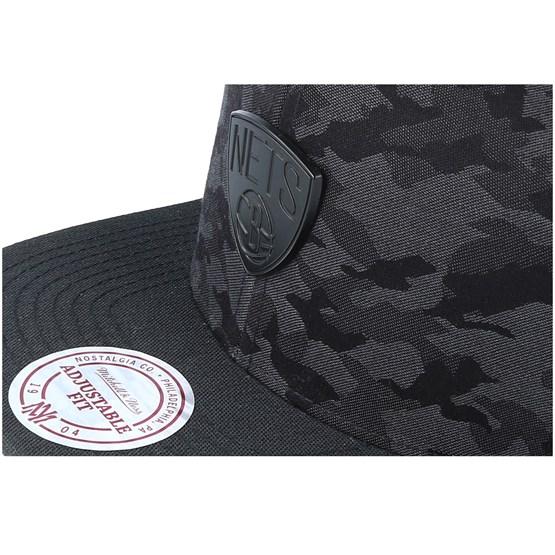 sale retailer 80a8b d1a04 Brooklyn Nets Combat Camo Black Charcoal Snapback - Mitchell   Ness - Start  Boné - Hatstore