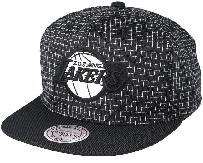 d0fe708c5fc11c LA Lakers Shell Black Snapback - Mitchell & Ness cap - Hatstore.co.in