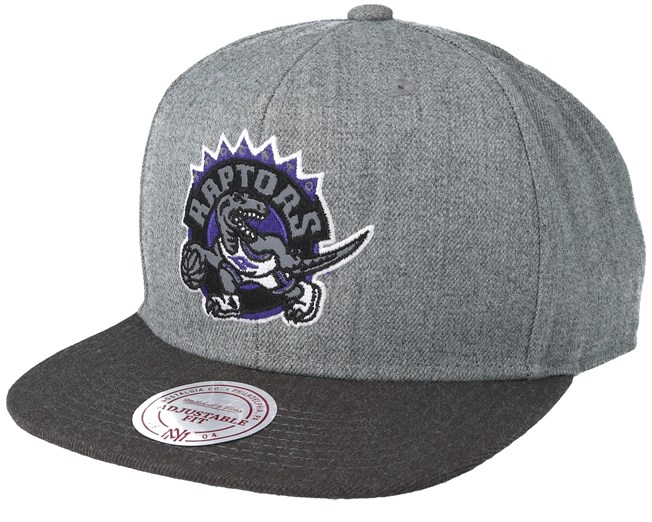 2820b180245 Toronto Raptors Heather Reflective Grey Snapback - Mitchell   Ness ...