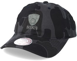 Brooklyn Nets Slouch Grey Camo Strapback Adjustable - Mitchell & Ness