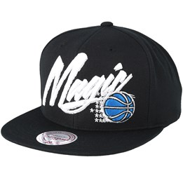 new products 265f5 05d05 Mitchell   Ness Orlando Magic Vice Script Solid Black Snapback - Mitchell    Ness £29.99