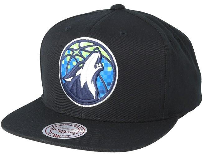 Mitchell /& Ness Minnesota Timberwolves Eazy Black 110 Adjustable
