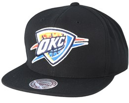 Oakland City Thunder Easy Three Digital XL Black Snapback - Mitchell & Ness