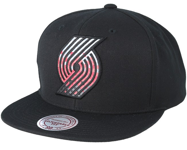 new style eccba 93d81 Portland Trail Blazers Easy Three Digital XL Black Snapback - Mitchell    Ness caps - Hatstoreworld.com