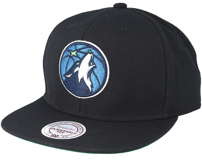 hot sale online eb006 191ac Minnesota Timberwolves Wool Solid 2 Black Snapback - Mitchell   Ness -  casquette   Hatstore.fr