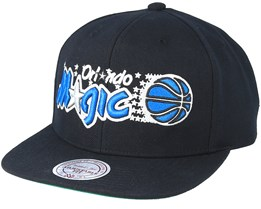 Orlando Magic Wool Solid 2 Black Snapback - Mitchell & Ness