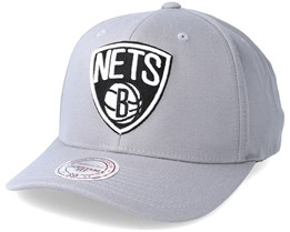 Brooklyn Nets Gull Grey Adjustable - Mitchell & Ness