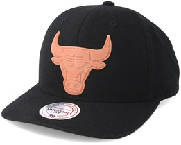 Chicago Bulls Gum Black Snapback - Mitchell & Ness